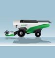 autonomous combine harvester vector image vector image