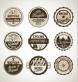 bicycle retro brown badge collection vector image vector image