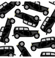 black car pattern vector image vector image