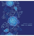 blue night flowers vertical frame seamless pattern vector image vector image