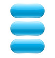 blue oval glass buttons vector image vector image
