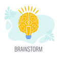 brainstorming icons creative technique vector image vector image