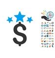 Business Stars Icon With 2017 Year Bonus Symbols vector image vector image