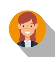 businesswoman character avatar icon vector image vector image