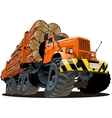 cartoon logging truck vector image vector image