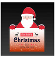christmas card with santa clause dark background vector image