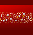 christmas decorative border with stars vector image vector image