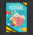 cinema movie festival placard banner card vector image vector image