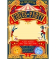 Circus 01 Invitation Vintage 2D vector image vector image