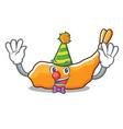clown tempura mascot cartoon style vector image vector image