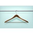Coat Wooden Hanger Isolated on Background vector image vector image