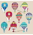 Colored air balloons stickers set vector image vector image