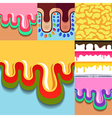 Colored seamless pattern drips vector image vector image