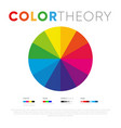 creative simple design color theory circle vector image vector image