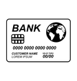 credit card isolated icon design vector image