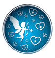 cupid characters paper valentine day vector image vector image