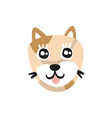cute brown dog face funny cartoon animal vector image