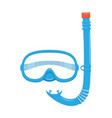 diving snorkel and mask vector image vector image