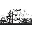 Equipment for fighting with forest fires vector image vector image