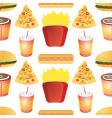 fast food tile vector image vector image
