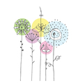 Flowers - freehand drawing vector image vector image