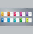 folder infographics design with 10 options vector image vector image
