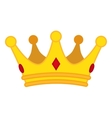 Golden crown cartoon icon jewelry for vector image vector image