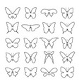 group shape of a butterfly on white background vector image vector image