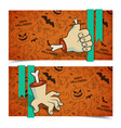 halloween greeting horizontal banners vector image vector image