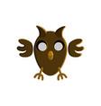 halloween owl character design vector image vector image