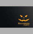 halloween party invitation with pumpkin in dark vector image vector image