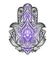 hamsa with boho pattern buddhas vector image vector image