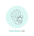 hand bell icon line element vector image