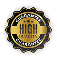 high quality golden label sign vector image vector image