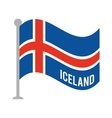iceland patriotic flag isolated icon vector image