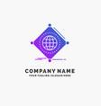 iot internet things of global purple business vector image