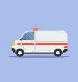 isolated flat ambulance icon vector image