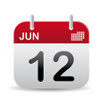 june calendar stand up vector image vector image
