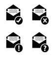letter envelope black vector image vector image
