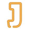 letter j bread icon cartoon style vector image