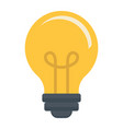 light bulb flat icon lamp and idea light vector image