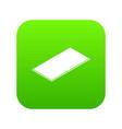 metal panel icon green vector image