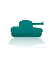 military tank flat style vector image vector image