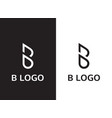 minimalist abstract letter b logo vector image