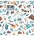music instruments seamless pattern vector image vector image
