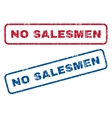 No Salesmen Rubber Stamps vector image vector image