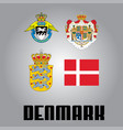 official government elements of denmark vector image