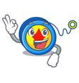 okay yoyo character cartoon style vector image vector image