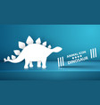 paper dino dinosaur on the blue vector image vector image