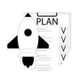 plan checklist for launch startup vector image vector image